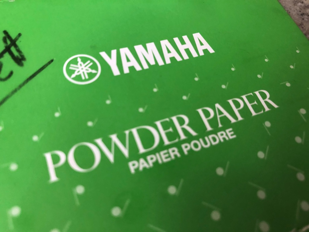 Yamaha Powder Paper for saxophone and other woodwind instruments